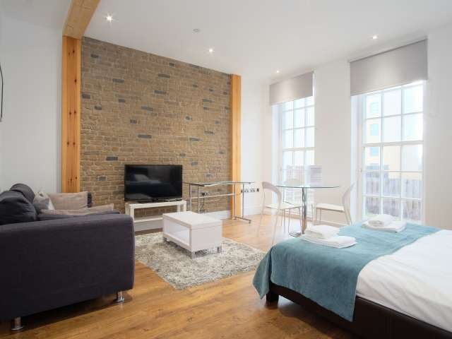 Chic studio apartment to rent in Tower Hamlets, London