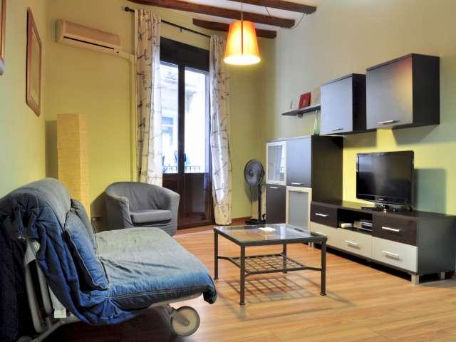 Studio-Wohnung mit Balkon zu vermieten, El Raval, Barcelona