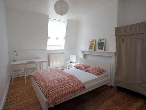 Luminous room in apartment in Schaerbeek, Brussels