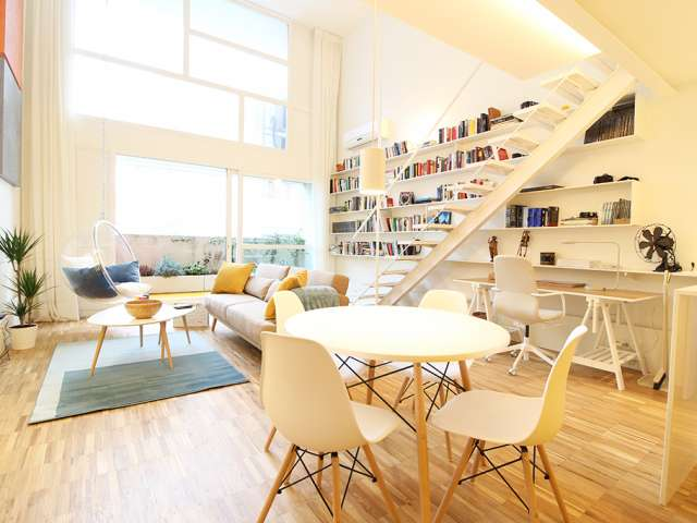 Loft apartment for rent in Fuencarral, in north Madrid
