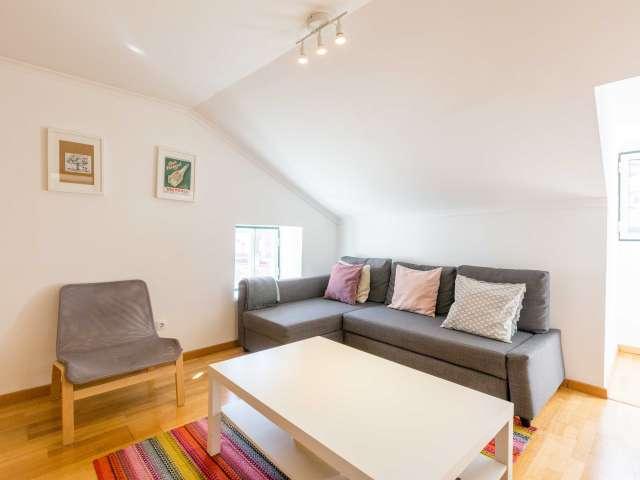 Bom apartamento de 1 quarto para alugar na Mouraria, Lisboa