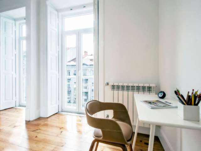 Acolhedor apartamento de estúdio para alugar em Arroios, Lisboa