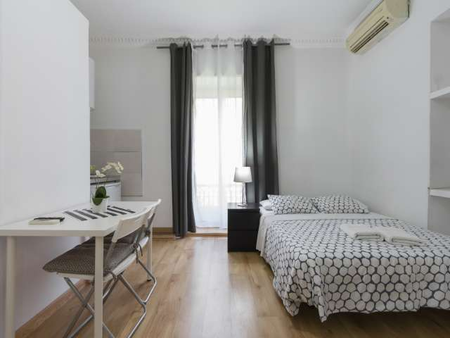 Sleek studio apartment for rent in Moncloa, Madrid