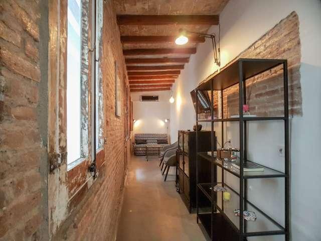 Stilvolle 2-Zimmer-Wohnung zur Miete in Sants, Barcelona