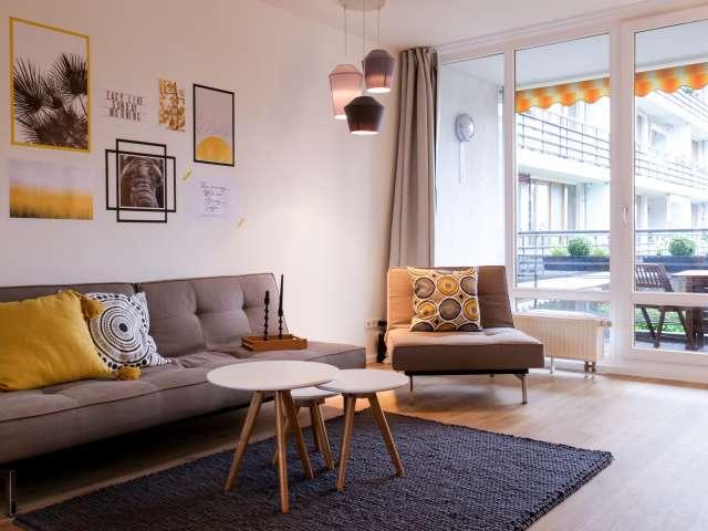 Stilvolle Wohnung mit 1 Schlafzimmer in Lichtenberg zu vermieten