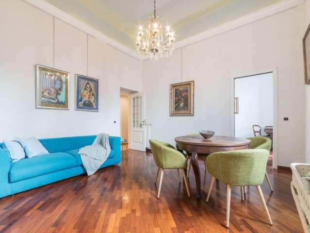 Appartamento con 2 camere da letto con aria condizionata in affitto nel centro di Roma