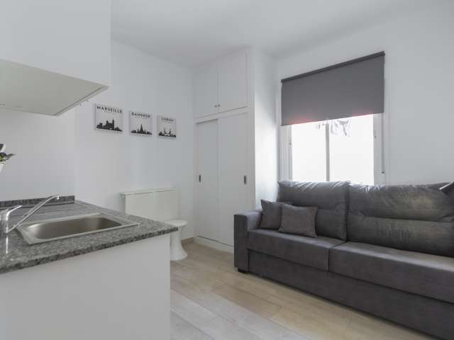 Modern studio apartment for rent in Usera, Madrid