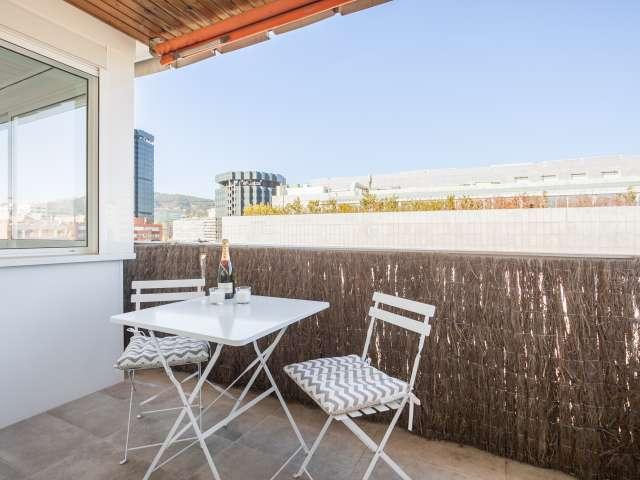 2-Zimmer-Wohnung mit Klimaanlage im lebhaften Les Corts zu vermieten
