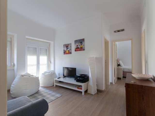 Apartamento de 2 quartos para alugar em Alvalade, Lisboa