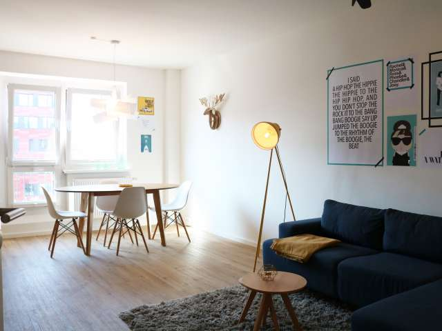 Modern apartment with 2 bedrooms for rent in Friedrichshain