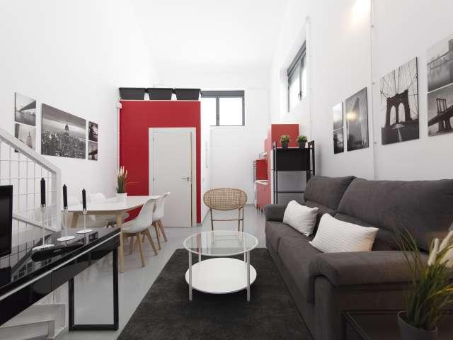 Unique studio apartment for rent in Ciudad Lineal, Madrid