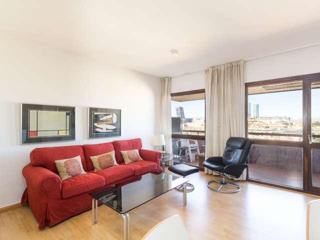 1-Zimmer-Wohnung mit AC mieten in Chamartín, Madrid