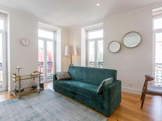 Apartamento chique de 1 quarto para alugar, Príncipe Real, Lisboa