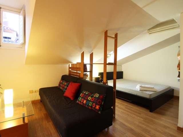 Gemütliches Studio-Apartment mit Klimaanlage zu vermieten in La Latina, Madrid