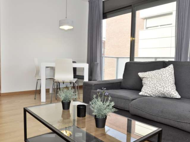 Modern 2-bedroom apartment for rent in Poblenou, Barcelona