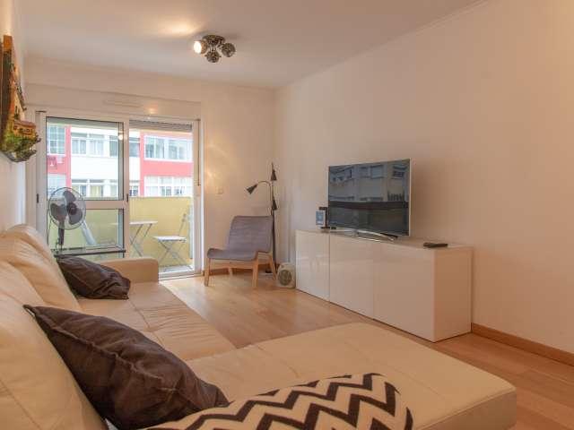 Grande apartamento de 1 quarto para alugar em Beato, Lisboa