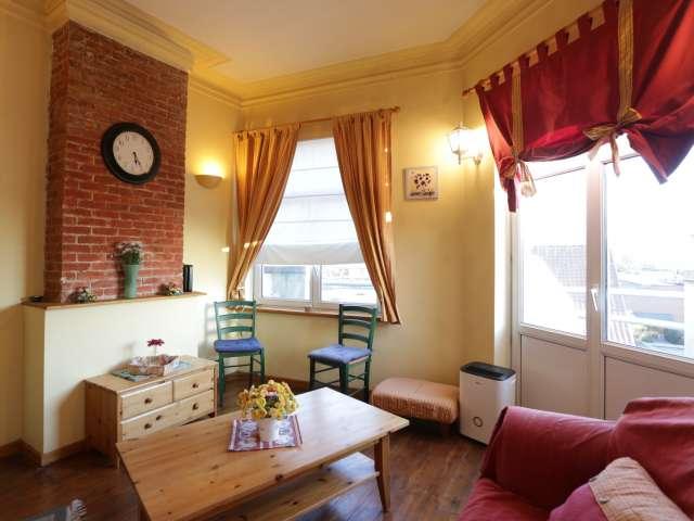 Appartement coloré de 2 chambres à louer à Evere, Bruxelles