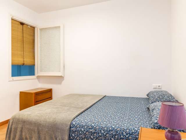 Double room for rent, 4-bedroom apartment, Gràcia, Barcelona