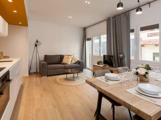 Bold 1-bedroom apartment for rent in Gràcia, Barcelona