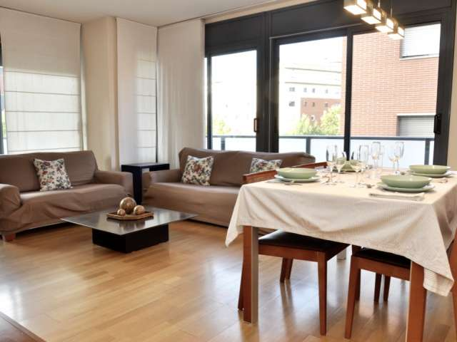 Bright 3-bedroom apartment for rent in Poblenou, Barcelona