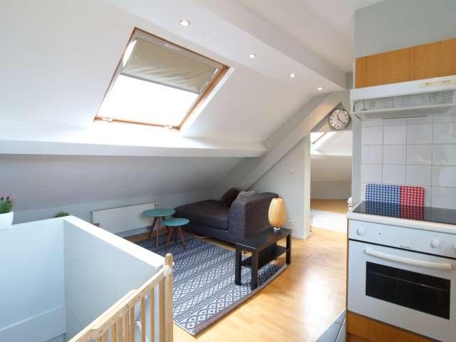 Trendy 1-Zimmer-Wohnung zur Miete im Stadtzentrum von Brüssel