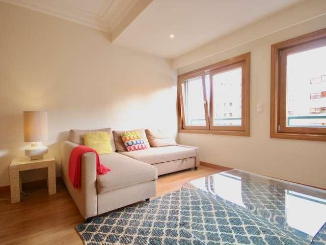 Apartamento luminoso de 1 quarto para alugar em Lumiar, Lisboa