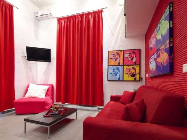 Vibrant duplex apartment for rent in Centro Storico, Rome