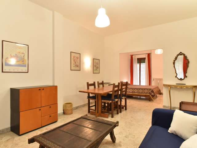 Camera da letto matrimoniale in affitto in appartamento con 4 camere da letto, Laurentina