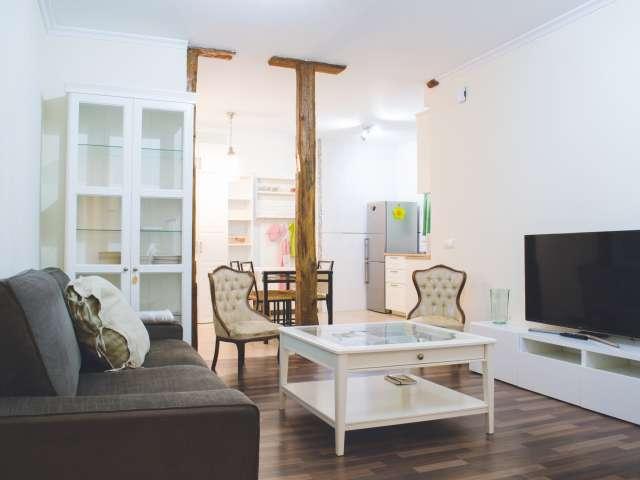Stilvolle 1-Zimmer-Wohnung zur Miete in Madrid City Centre
