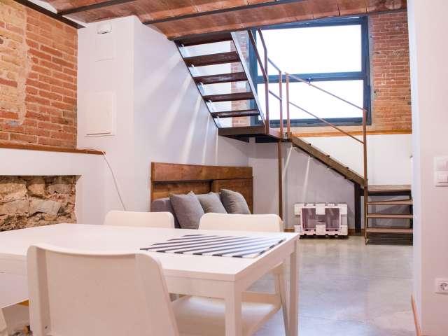 Rustikales Studio zur Miete in Sants, Barcelona