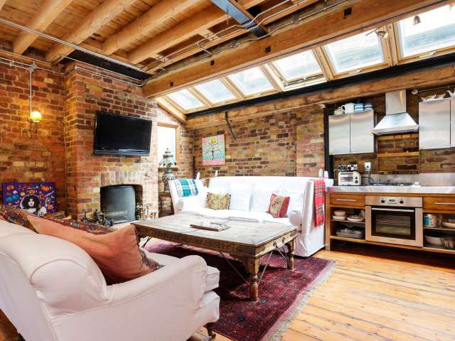 Rustic 1-bedroom apartment to rent in Bethnal Green, London