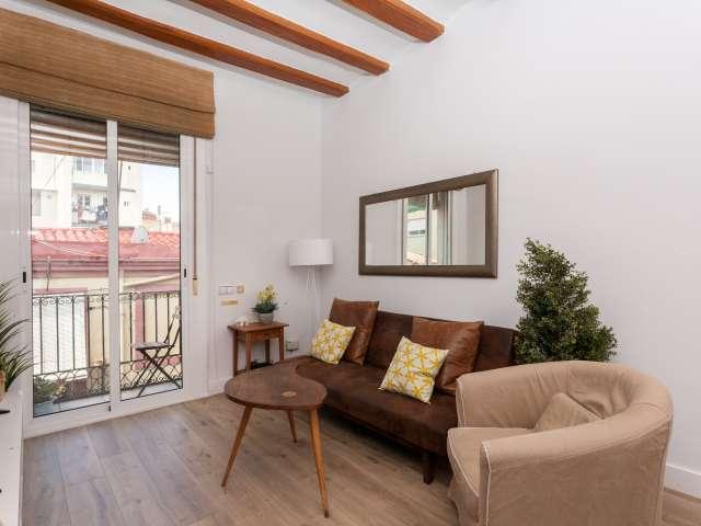 Charmante 2-Zimmer-Wohnung zur Miete in Sants, Barcelona
