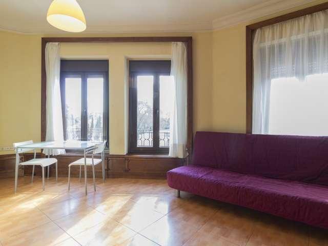 Sunny studio apartment for rent in Retiro, Madrid