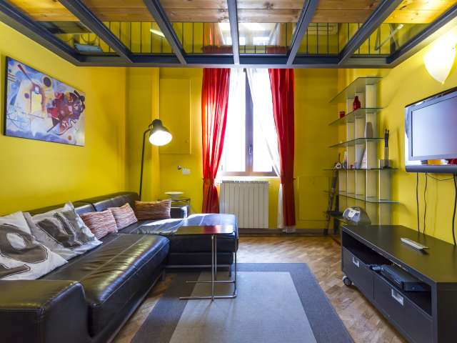 Bold studio apartment for rent in Navigli, Milan
