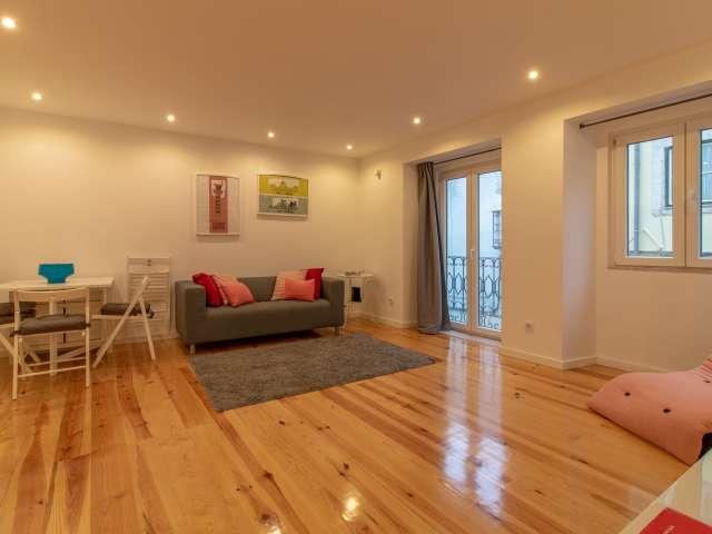 Apartamento espaçoso com 1 quarto para arrendar no Bairro Alto, Lisboa