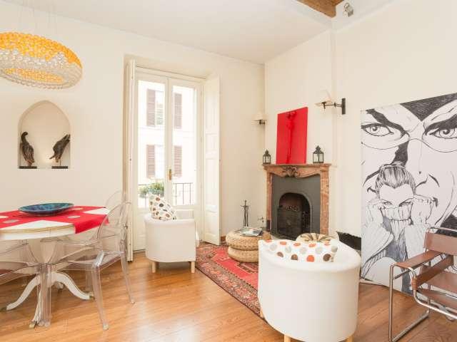 Luxury 1-bedroom apartment for rent in Brera, Milan