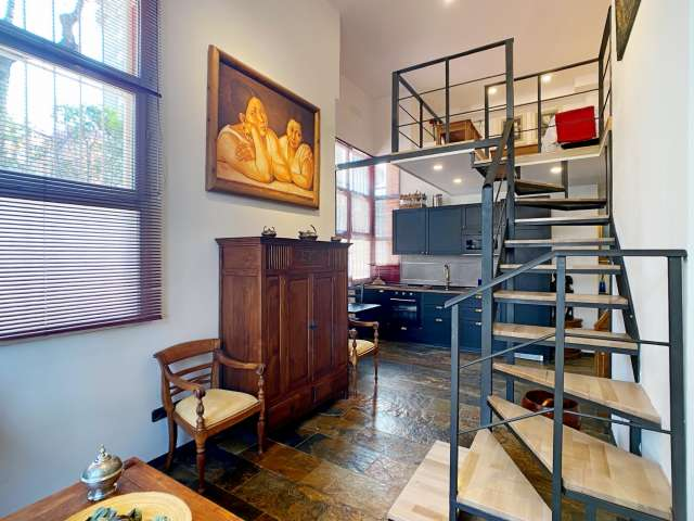 Chic loft apartment for rent in Ciudad Lineal, Madrid