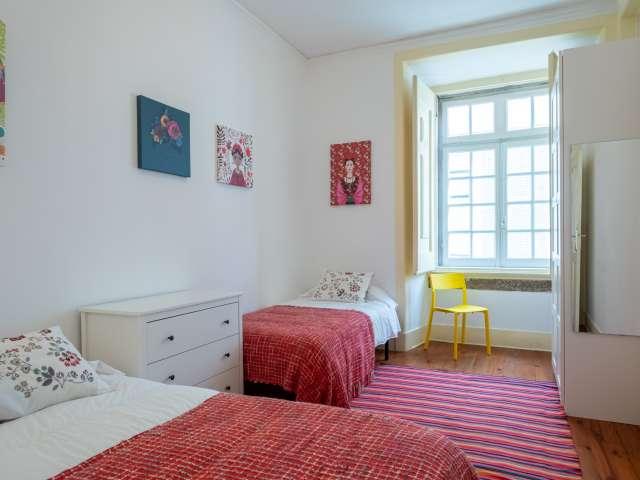 Single room for rent, 3-bedroom apartment, Santa Maria Maior