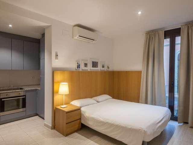 Luminoso appartamento con 1 camera da letto in affitto a Barri Gòtic