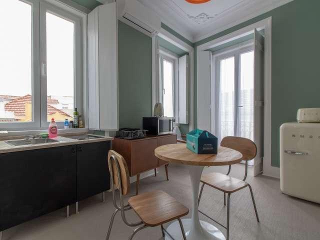 Cozy 1-bedroom apartment for rent in Arroios, Lisbon