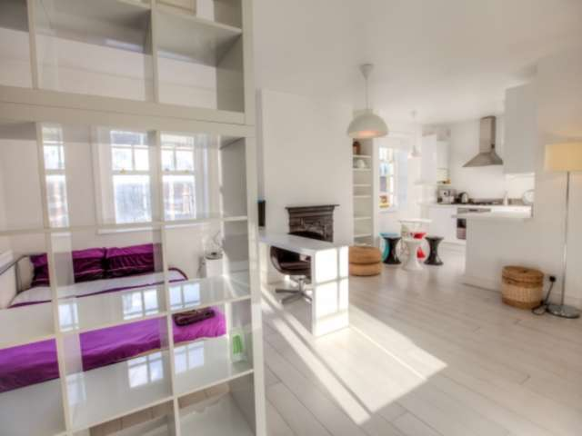 Sun-filled studio apartment for rent in West End, London