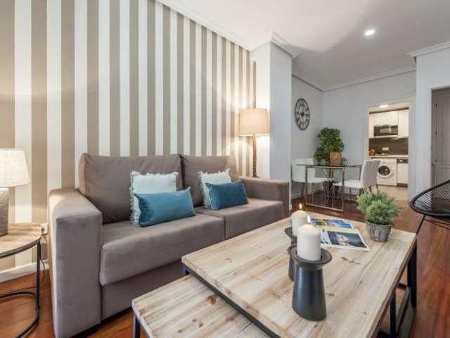 Elegante 1-Zimmer-Wohnung zur Miete in Malasaña, Madrid