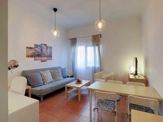 Chic 1-Zimmer-Wohnung zur Miete in Guindalera, Madrid