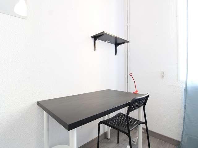 Bright room in 4-bedroom apartment in La Latina, Madrid