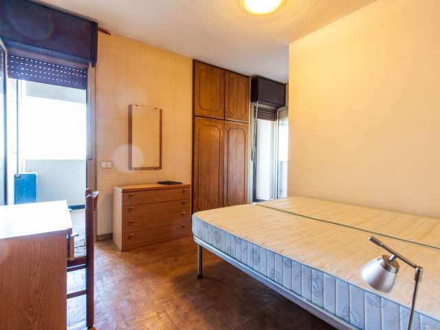 Spazioso monolocale con un grande balcone in affitto a Roma