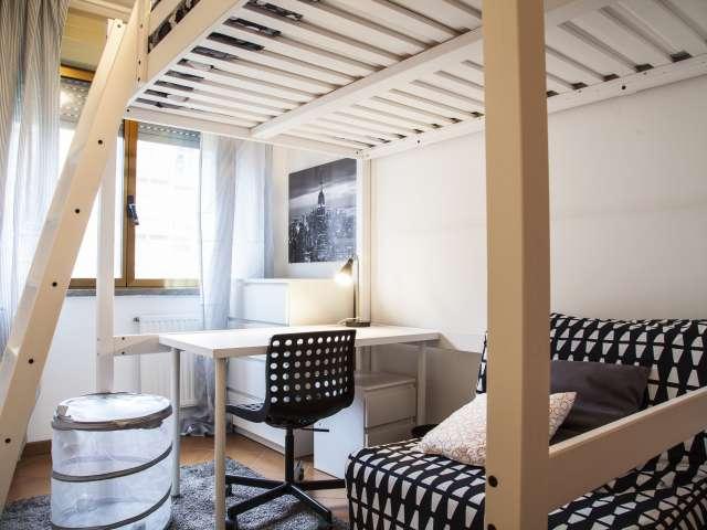 Modern room in 3-bedroom apartment in Morena, Rome