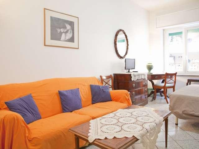 Animaux acceptés, appartement 1 chambre à louer à Ostiense, Rome