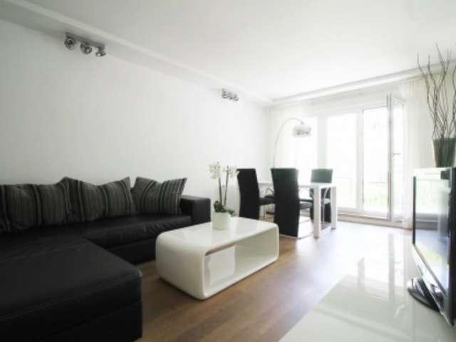 Stilvolle Wohnung mit 1 Schlafzimmer in Mitte, Berlin zu vermieten
