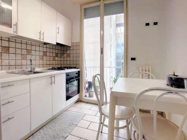 Accogliente appartamento con 2 camere da letto in affitto a Bocconi, Milano