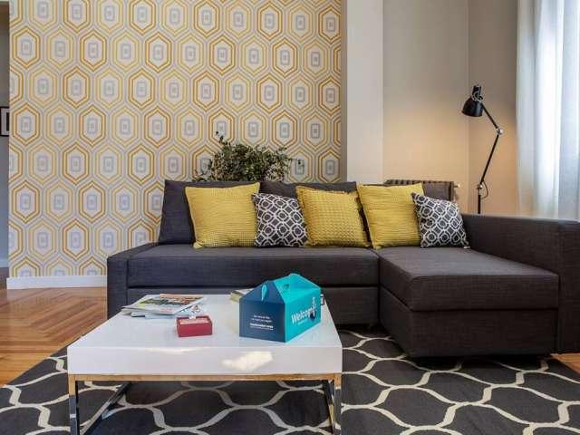 Moderne 1-Zimmer-Wohnung zur Miete in Centro, Madrid